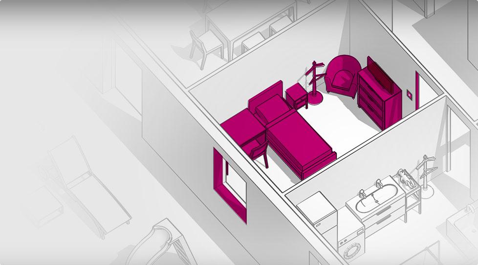 Carte interactive : Chambre