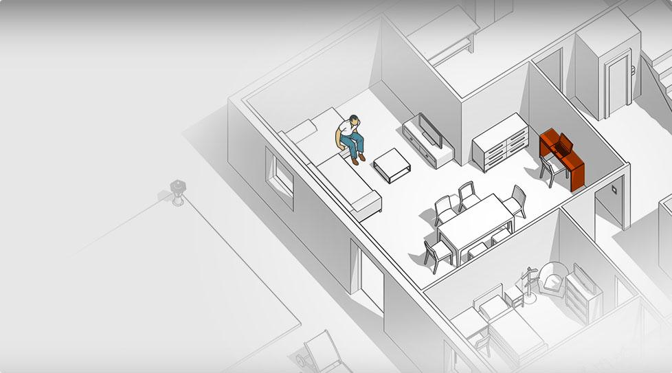 Carte interactive : Bureau / chaise