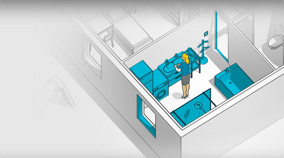 Carte interactive : Salle de bain