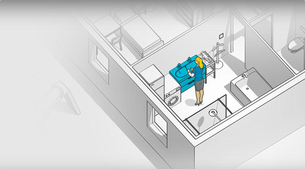 Carte interactive : Lavabo